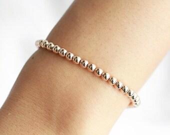 Rose Gold SARAH Stretch Bracelet