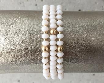 TRIO Bracelet Stack (Ivory)
