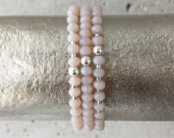 TRIO Bracelet Stack (Light Dusty Pink)
