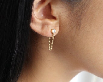 MARI Gold Chain Earrings