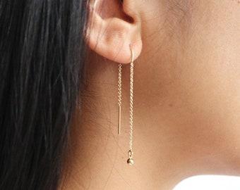 APRIL Gold Threader Earrings
