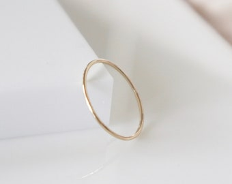HONEST Solid Gold Stacking Ring