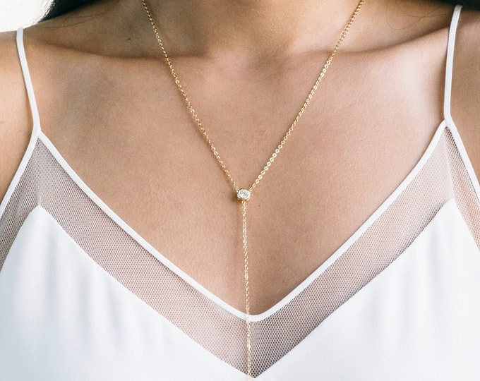 The [ M I A ] Long Lariat Necklace