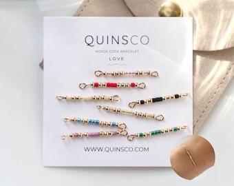 """LOVE"" Morse Code Bracelet"