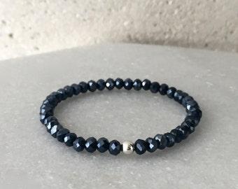 Small Midnight Blue Stretch Bracelet