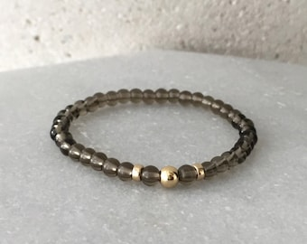 Small Smoky Quartz Stretch Bracelet
