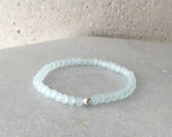 Small Light Blue Stretch Bracelet