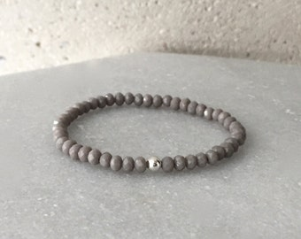 Small Light Grey Stretch Bracelet