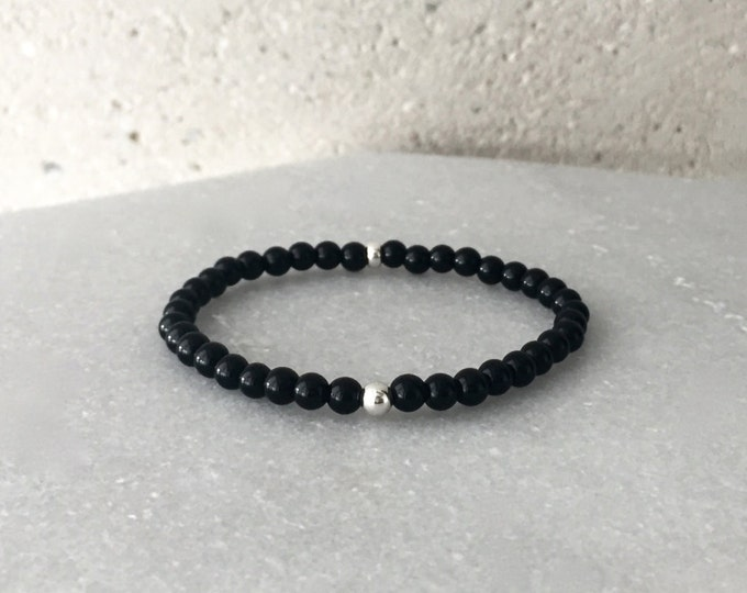 Small Black Onyx Stretch Bracelet