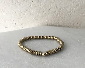 Gold Hematite Stretch Bracelet