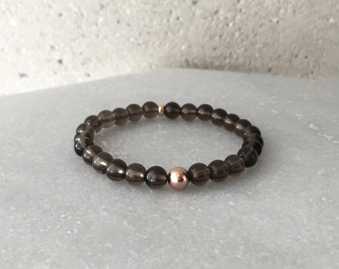Large Smoky Quartz Stretch Bracelet