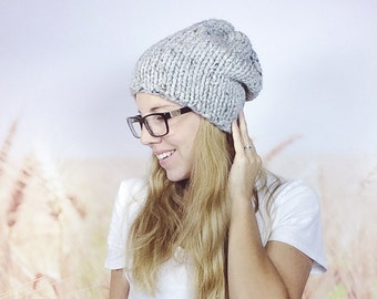 4d7a1cd046e Glitter and Rainbow Unicorn Beanie Hat For Women Chunky Knit