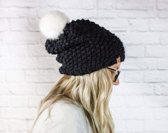 Slouchy BeretOversized TamBeanieWool HatChunky Winter HatMerino Hats