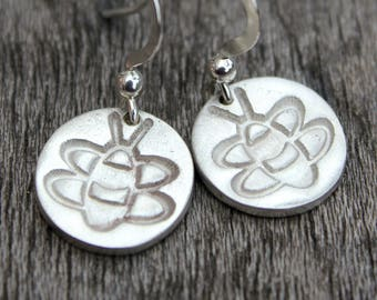 Silver bee earrings, bumble bee earrings, bumblebee earrings, bee earings, bee jewellery, bee lover gift, bees, silver bees