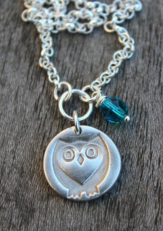 Barn owl pendant, barn owl necklace, barn owl jewelry, woodland jewelry, graduation gift, woodland necklace, owl designs, silver owl studio