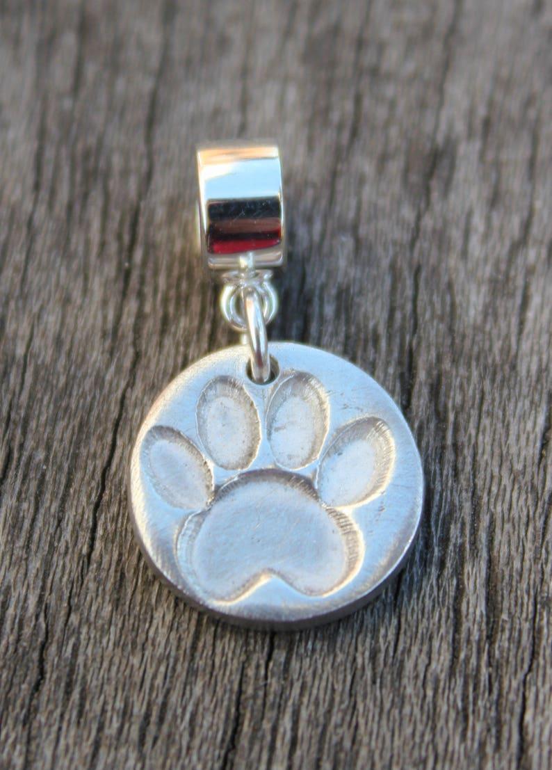 3302b781a Paw print charm silver paw print charm dog paw charm cat | Etsy