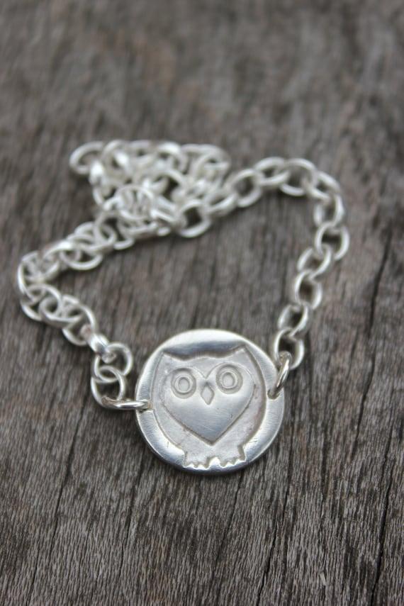 British wildlife silver bracelet, eco friendly jewellery, wildlife charity gift, wildlife christmas gift idea, steampunk owl jewellery