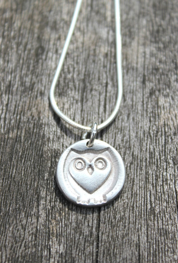 Owl gift, cute owl, owl lover, owl necklace, owl charm, tiny owl, tiny silver owl, owl accessories, owl jewelry, owl jewellery, heart owl