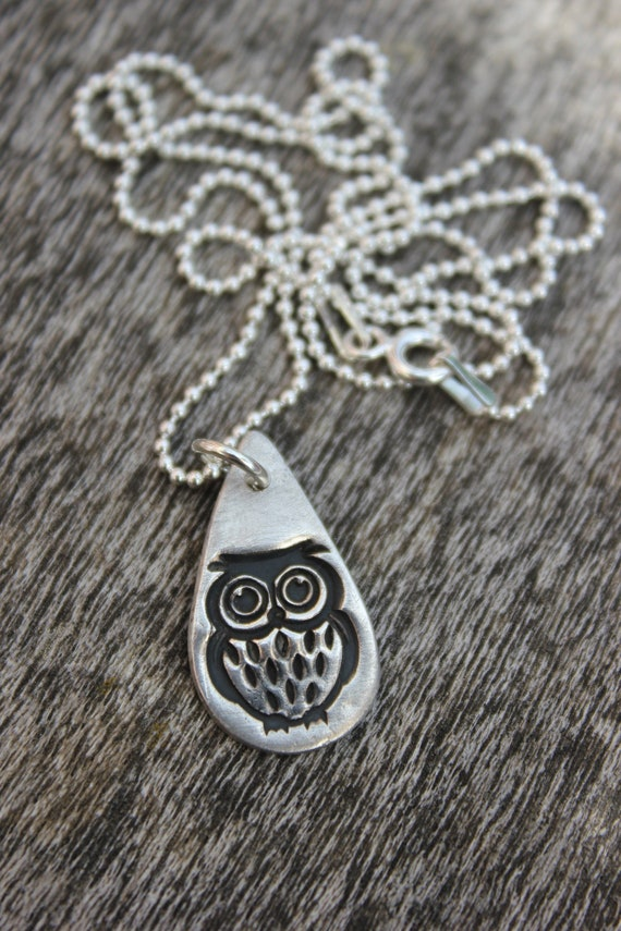 Cute owl teacher gift, lockdown gift, teacher necklace, teacher jewellery