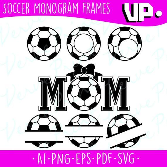 Soccer Monogram Frames Svg Soccer Svg Ai Eps Pdf Png | Etsy