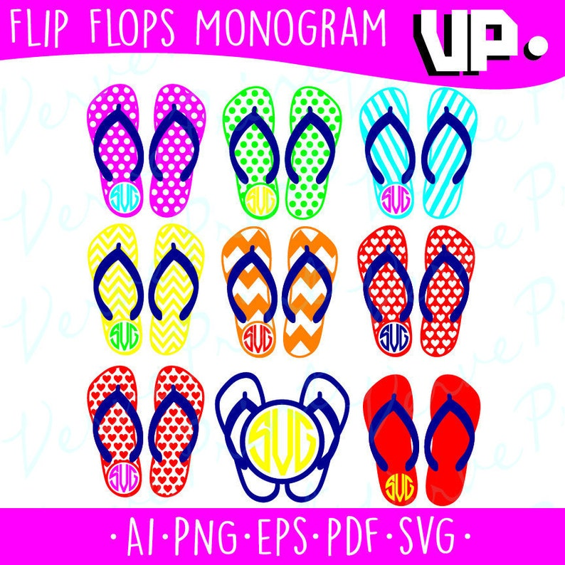 f6e96b0fb021bf Flip Flops Frames Svg Summer Svg Ai Eps Pdf Png Cutting