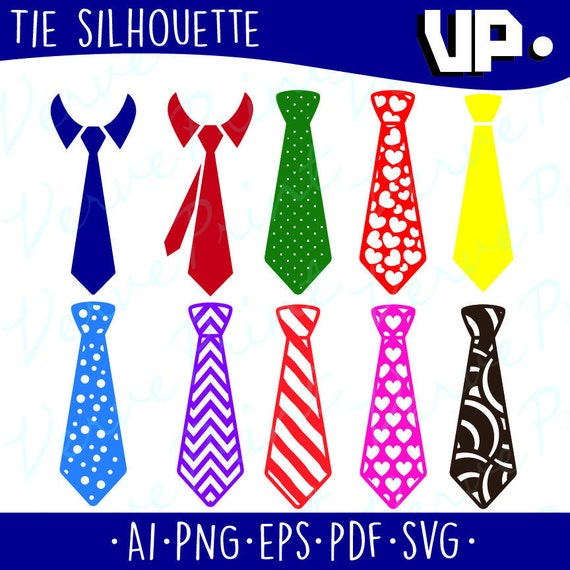 Tie Svg Ai Eps Pdf Coupe Cravate Vector Clipart Etsy