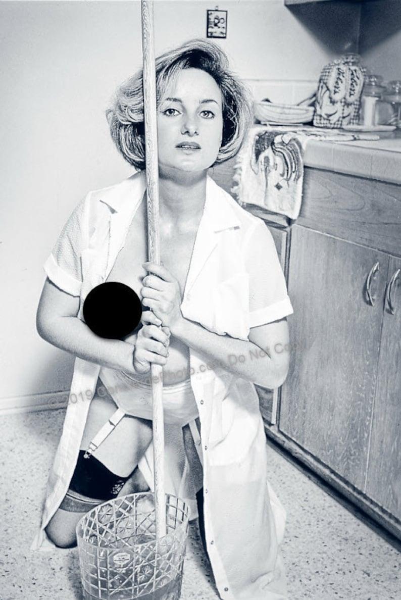 Vintage Mature 1960s Risque Photo 8x12 Custom Original