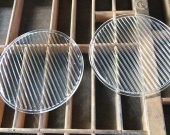 Railroad signal lamp glass or lantern glass lenses (2)