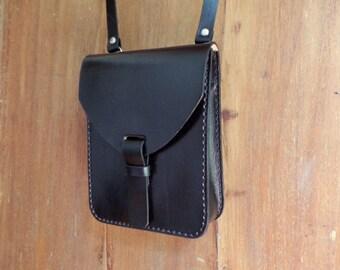 Leather crossbody bag small. With inside pocket. Handmade  9ff84e3f7dc8a