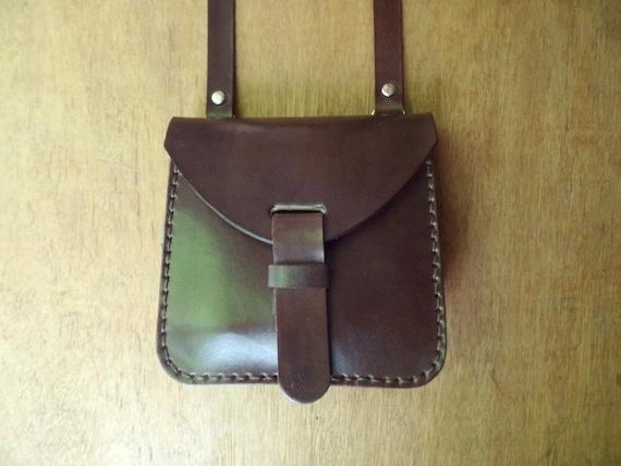 6827084cd5cc Leather crossbody bag small. With inside pocket. Handmade