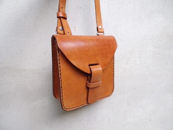 5fa8c8871cf3 Leather crossbody bag small. Handmade leather bag. With