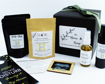 Gift For Pregnant Mom N Pregnancy Basket Baby Bump Expecting Mother Natural Organic Tea Bath To Be Maternity Non