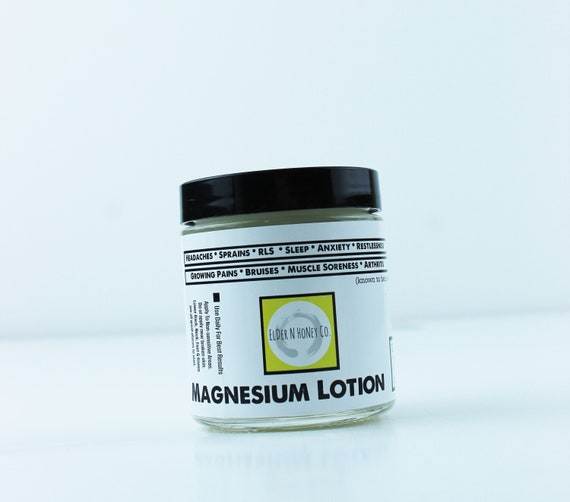 Organic Magnesium Lotion Sore Muscles Growing Pains RLS