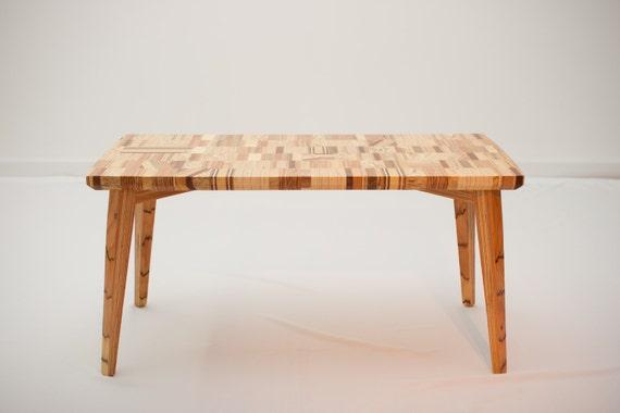 Wood Coffee Table 'Linear Mosaic'