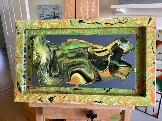 Acrylic Pour Abstract Art,  10 x 16