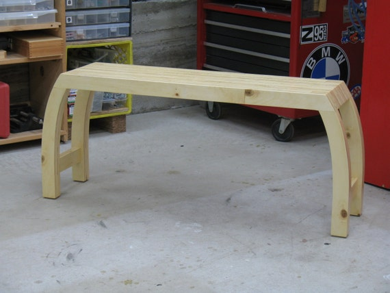 "Modern Bench ""Everyday"" – Wood Bench - Plywood Bench"