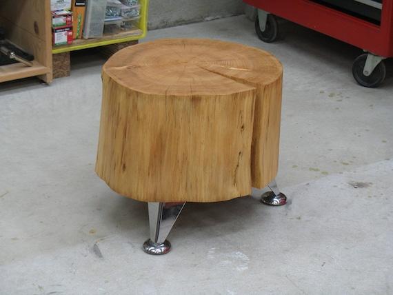 Modern Log Stool - End Table 2