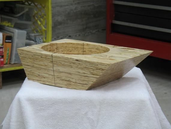 "Wood Bowl "" Bisected Trapezium"" – Art Bowl"