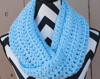 Ready to Ship Baby Blue Infinity Scarf