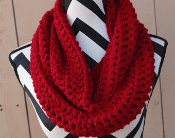 Ready to Ship True Red Infinity Scarf