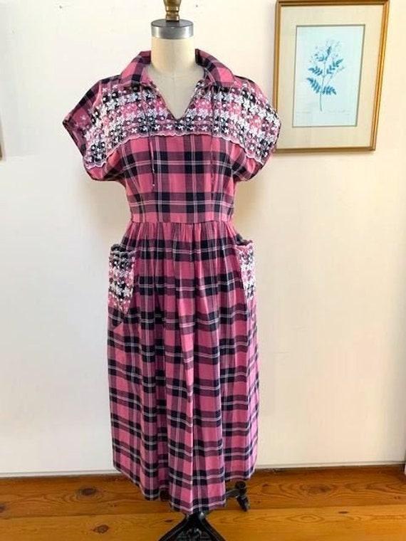 1950's Plaid Dress