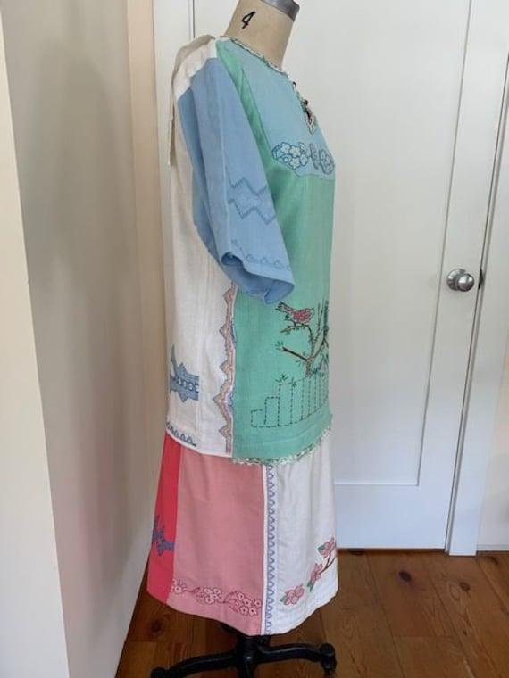 Vintage Embroidered Dress - image 3