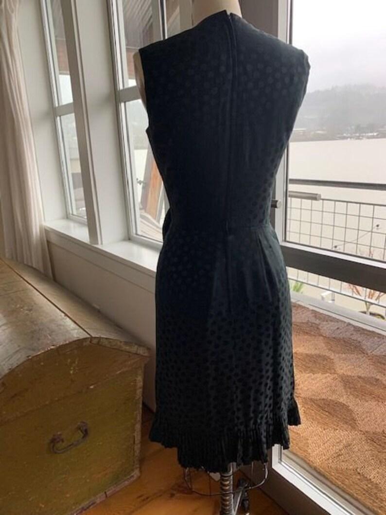 Black silk cocktail dress Size 6