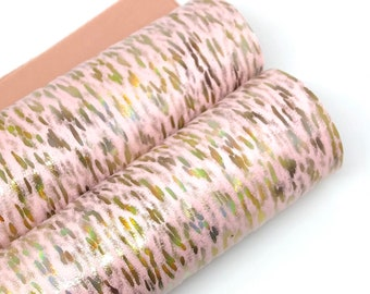 Last Chance!!!Dark Pink Iridescent Embossed Stripes 8x11 faux leather 0.8mm