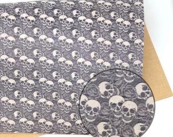 Skulls on white 0.95mm