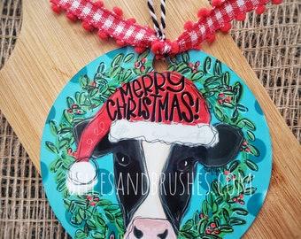 Christmas ornament, Cow ornament, dairy farmer ornament, farm life ornament