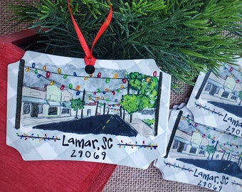 Lamar SC Christmas light ornament