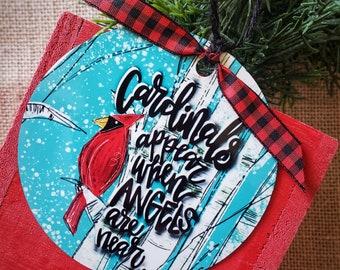 Cardinal Christmas ornament, memorial ornament, Christmas ornament