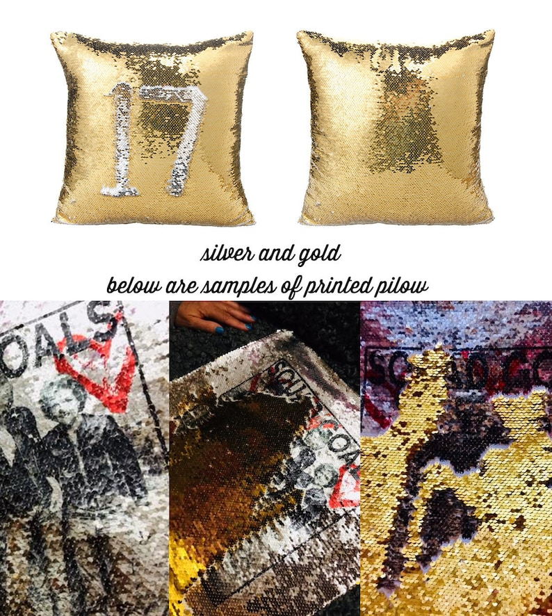 mermaid sequin pillow DIY, sublimation supplies you print, 20x20 inch, home  decor, cover only, custom personalized gift, unicorn fantasy