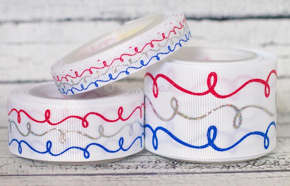 "5 Yd Patriotic USA Grosgrain Ribbon 1.5/""W"